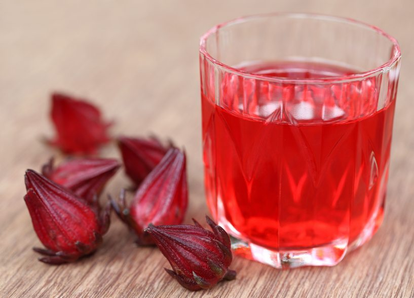 Roselle with drink